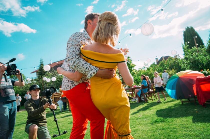 разноцветная свадьба годовщина декор