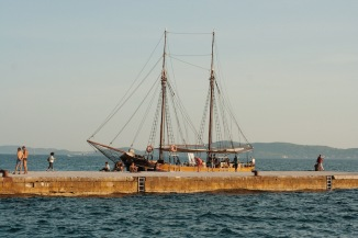 Хорватия Задар что посмотреть набережная море