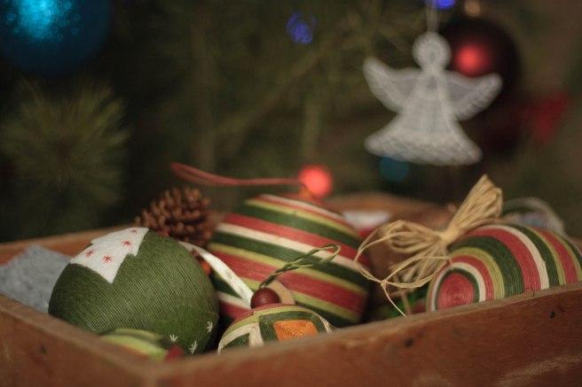 новогодний декор для дома шары