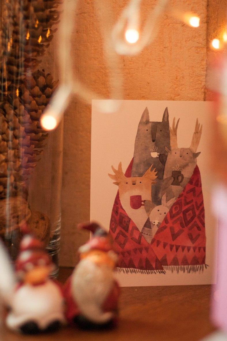 новогодняя открытка с Тукони