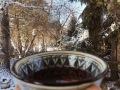 Горячие напитки для зимы, чай, зима, каркасе, красный цитрусовый напиток, полезный чай