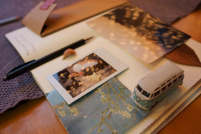 личный дневник, блокнот, мгновенное фото, магнит фольцваген бус, dear diary