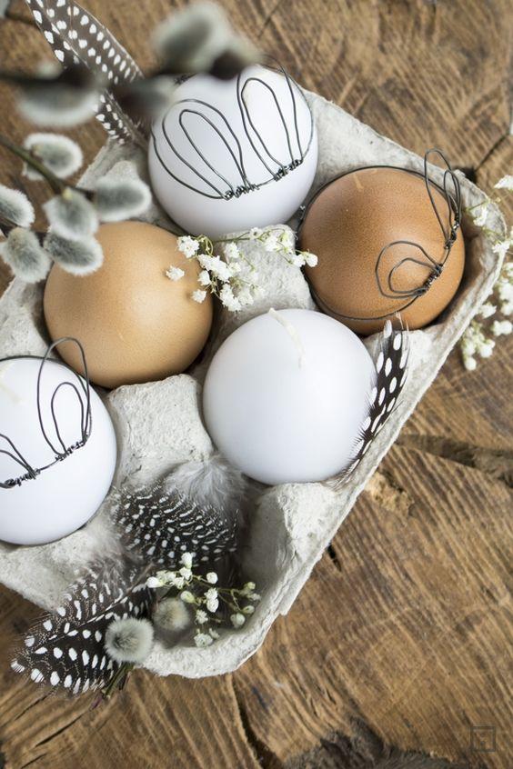пасхальные яйца с ушками, идеи для Пасхи