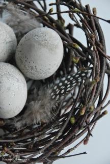 идея для пасхи, гнездо для пасхальных яиц