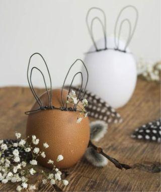 пасхальные яйца с ушками, декор для Пасхи